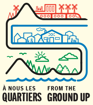Logo de l'organisme À nous les quartiers (ANLQ) - From the Ground Up (FTGU)